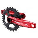 Aerozine XOne Red Narrow Wide Single Chainset With Bottom Bracket