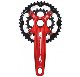 Aerozine X12 SL MTB Double Crank Set Red