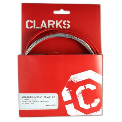 Clarks Universal Stainless Steel Brake Cable Kit - Red