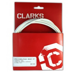 Clarks Universal Stainless Steel Brake Cable Kit - White