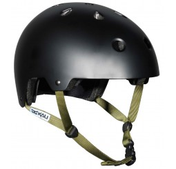 Kali MAHA Solid Black Dirt & BMX Helmet With Sticker Set