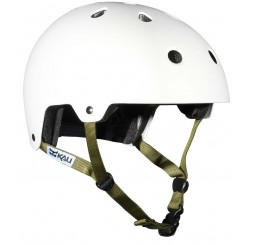 Kali MAHA Solid White Dirt & BMX Helmet With Sticker Set