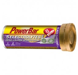 Power Bar 5 Electrolytes Tablets - Blackcurrant - Box of 12 Tubes