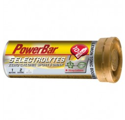 Power Bar 5 Electrolytes Tablets - Lemon Tonic With Caffiene - Box of 12 Tubes