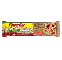 Power Bar Natural Energy Cereal Bars - Strawberry & Cranberry - Box of 24