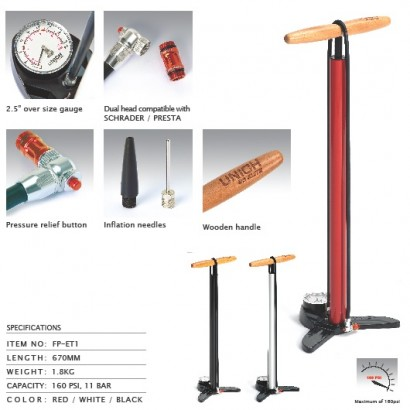 Unich Elite Track / Floor Pump White