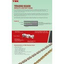 YBN 11 Speed Titanium Hollow Pin Chain - Silver